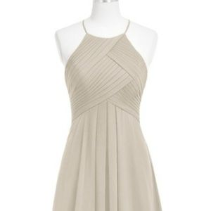 Long taupe dress